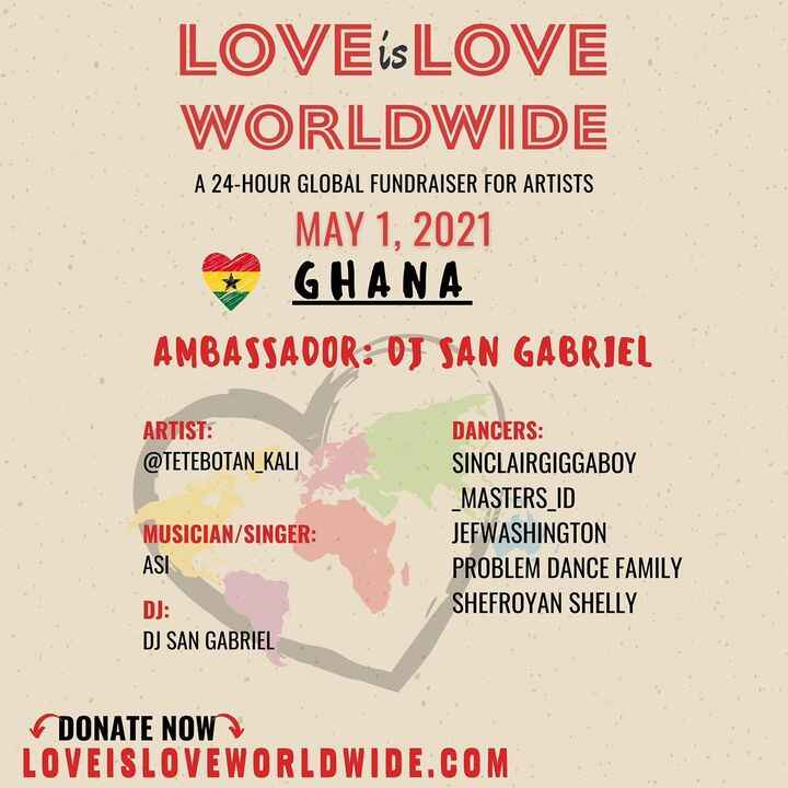 🎛TUNE IN ON MAY 1st to www.loveisloveworldwide.com to see performances from artists from over 24 countries for 24 hours!...