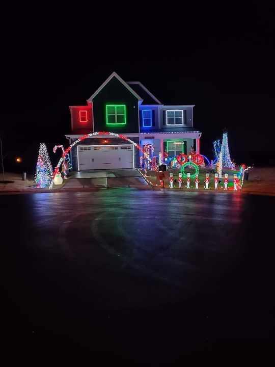 LIGHTSHOW IS UP AND RUNNING!!! Address is 228 Rothes Court Clayton. Lightshow runs every night from 5:30-10:00 until New...