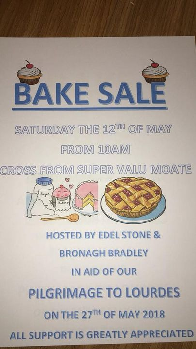 Former ballad group members Bronagh Bradley and Edel Stone are hosting a bake sale on Saturday the 12th of May from 10 a...