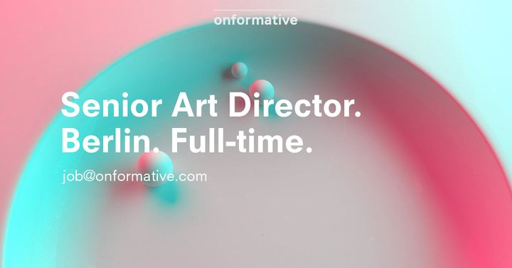 You are a passionate and experienced Art Director (f/m/d), looking for an exciting opportunity to lead stunning projects...