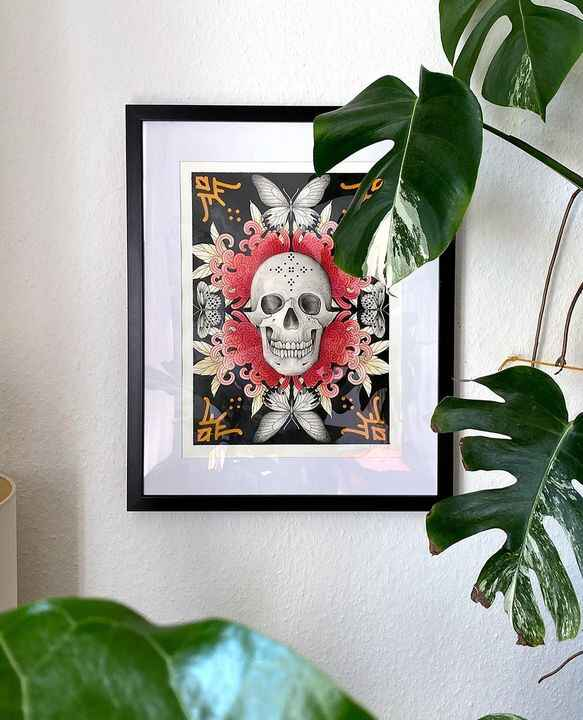 I made some new prints you can now pre order via herzdame.bigcartel.com! If you order the Skull & the Birds u get the Ro...